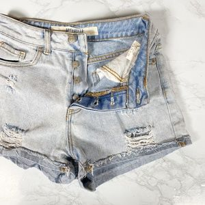 Brandy Melville High Rise Button Fly Shorts 25
